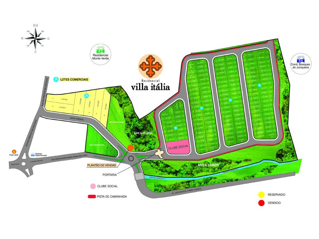 Implantaçao_ Jardim Residencial Villa Itália